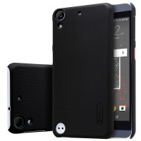 Пластиковый матовый нескользящий премиум чехол для HTC Desire 530/630 Черный
