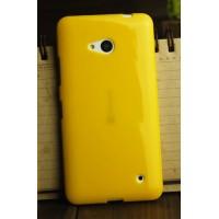 Силиконовый глянцевый непрозрачный чехол для Microsoft Lumia 640 Желтый