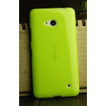 Силиконовый глянцевый непрозрачный чехол для Microsoft Lumia 640