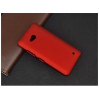 Пластиковый матовый непрозрачный чехол для Microsoft Lumia 640 Красный