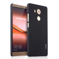 Пластиковый матовый непрозрачный чехол для Huawei Mate 8 Черный
