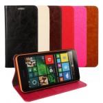 Глянцевый чехол горизонтальная книжка подставка с отделениями для карт для Microsoft Lumia 640
