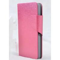 Чехол флип подставка с затежкой для Sony Xperia E1 Розовый