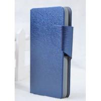 Чехол флип подставка с затежкой для Sony Xperia E1 Синий