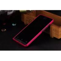 Металлический бампер для ASUS Zenfone 5 Розовый