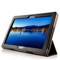 Кожаный чехол подставка (нат. кожа) сегментарный для Huawei MediaPad M2 10