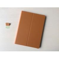 Оригинальный кожаный смарт чехол подставка на поликарбонатной основе с крепежом для стилуса для Huawei MediaPad M2 10 Коричневый