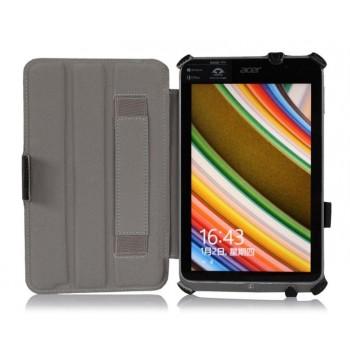 Кожаный чехол подставка двухуровневый с угловыми креплениями для Acer Iconia W4