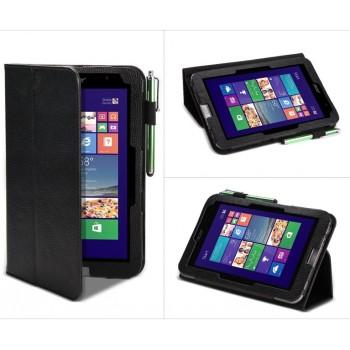 Кожаный чехол подставка с рамочной защитой экрана и поддержкой кисти для Acer Iconia W4