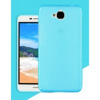 Силиконовый матовый полупрозрачный чехол для Huawei Honor 4C Pro Голубой