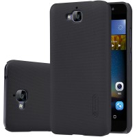 Пластиковый матовый нескользящий премиум чехол для Huawei Honor 4C Pro Черный