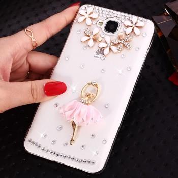 Дизайнерский пластиковый полупрозрачный чехол с аппликацией ручной работы для Huawei Honor 4C Pro