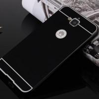 Двухкомпонентный чехол с металлическим бампером и поликарбонатной накладкой для Huawei Honor 4C Pro Черный