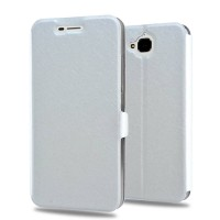 Чехол флип подставка на силиконовой основе с защёлкой текстура Золото для Huawei Honor 4C Pro Белый