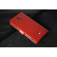 Чехол портмоне подставка на пластиковой основе для Acer Liquid S2 Коричневый