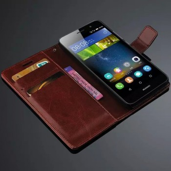 Глянцевый чехол портмоне подставка на пластиковой основе с защёлкой для Huawei Honor 4C Pro
