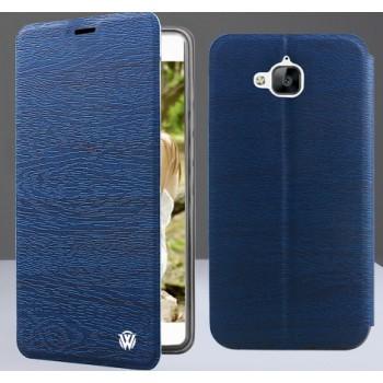 Чехол флип подставка на силиконовой основе текстура Дерево для Huawei Honor 4C Pro