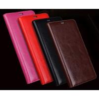 Вощеный кожаный чехол горизонтальная книжка (нат. кожа) для Huawei Honor 4C Pro