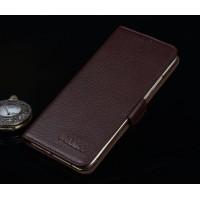 Кожаный чехол портмоне (нат. кожа) для Huawei Honor 4C Pro