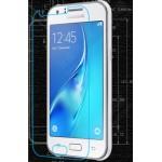 Ультратонкое износоустойчивое сколостойкое олеофобное защитное стекло-пленка для Samsung Galaxy J1 mini (2016)