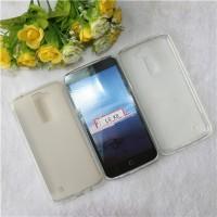 Силиконовый матовый полупрозрачный чехол для LG K8 Белый