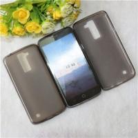 Силиконовый матовый полупрозрачный чехол для LG K8 Серый