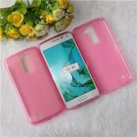 Силиконовый матовый полупрозрачный чехол для LG K8 Розовый