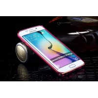 Металлический бампер с золотой окантовкой для Samsung Galaxy S6 Edge