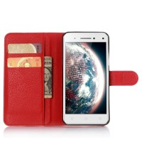 Чехол портмоне подставка с защелкой для Lenovo Vibe S1 Красный