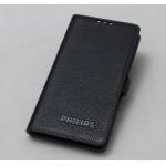 Кожаный чехол горизонтальная книжка (нат. кожа) на силиконовой основе для Philips i908
