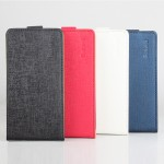 Текстурный чехол вертикальная книжка на клеевой основе для Oukitel K6000