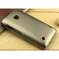 Пластиковый чехол серия Metallic для Nokia Lumia 530 Бежевый
