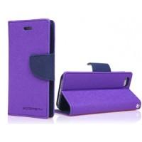 Чехол портмоне подставка на силиконовой основе с защелкой для ASUS Zenfone 2 Laser 5 ZE500KL Фиолетовый