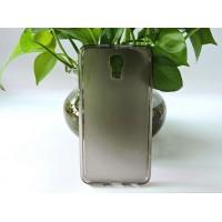 Силиконовый матовый полупрозрачный чехол для LG X view Серый