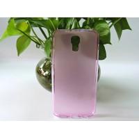 Силиконовый матовый полупрозрачный чехол для LG X view Розовый