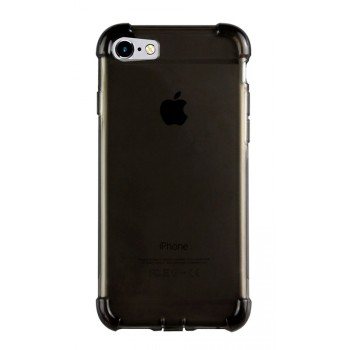 Силиконовый матовый полупрозрачный чехол повышенной защиты с усиленными углами и допзаглушками для Iphone SE/5s/5
