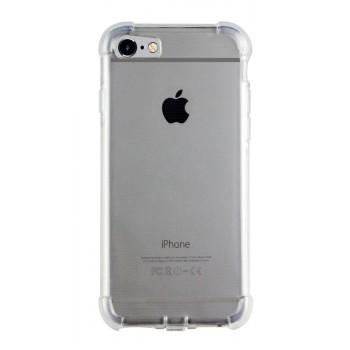 Силиконовый транспарентный чехол повышенной защиты с усиленными углами и допзаглушками для Iphone SE/5s/5