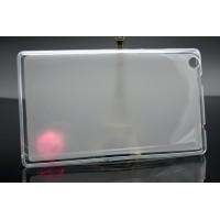 Силиконовый полупрозрачный чехол для Lenovo Tab 2 A8 Белый