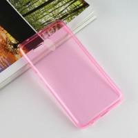 Силиконовый матовый полупрозрачный чехол для Alcatel One Touch POP 3 5.5 Розовый