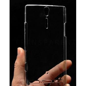 Пластиковый транспарентный чехол для Sony Xperia S