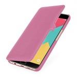 Кожаный чехол горизонтальная книжка (нат. кожа) с крепежной застежкой для Samsung Galaxy A9