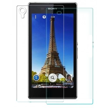 Ультратонкое износоустойчивое сколостойкое олеофобное защитное стекло-пленка для Sony Xperia Z1