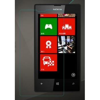 Ультратонкое износоустойчивое сколостойкое олеофобное защитное стекло-пленка для Nokia Lumia 520