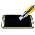 Ультратонкое износоустойчивое сколостойкое олеофобное защитное стекло-пленка для HTC One (M8)