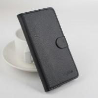Чехол портмоне подставка на клеевой основе с магнитной застежкой для Oukitel K4000 Черный