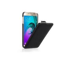 Кожаный чехол вертикальная книжка с крепежной застежкой для Samsung Galaxy S7