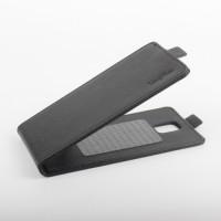 Клеевой чехол вертикальная книжка с магнитной застежкой для Lenovo Vibe S1 Черный