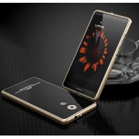 Гибридный двухкомпонентный чехол с металлическим бампером и закаленной стеклянной накладкой для Huawei Mate 8