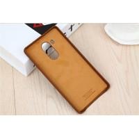 Оригинальный кожаный чехол накладка (нат. кожа) для Huawei Mate 8 Коричневый