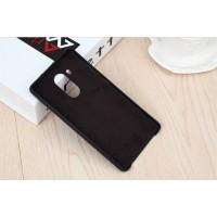 Оригинальный кожаный чехол накладка (нат. кожа) для Huawei Mate 8 Черный